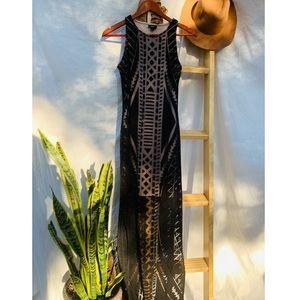 Tribal Print Maxi Long Dress